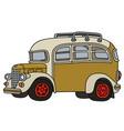 funny vintage bus vector image vector image