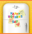 happy mothers day magnetic letters vector image vector image