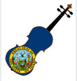 idaho state fiddle vector image vector image