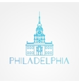 Independence Hall The symbol of Philadelphia USA vector image vector image