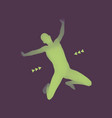 jumping man 3d model of man human body vector image vector image