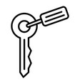 key pet house icon outline style vector image