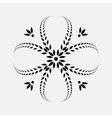 Laurel wreath tattoo icon Cross sign on white vector image vector image