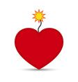 Love Heart Fire Cracker Design vector image vector image