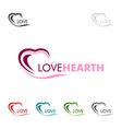 Love heart love logo design vector image