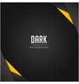 modern black pattern orange colour dark background vector image vector image