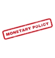 Monetary Policy Rubber Stamp vector image vector image