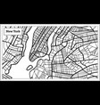 new york usa map in black and white color vector image