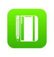 notepad pencil icon simple black style vector image vector image
