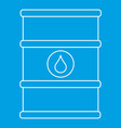 Oil barrel with label icon outline style