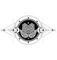 ornate hand drawn hamsa popular arabic and jewish vector image vector image