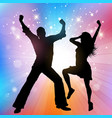 party people poster vector image vector image