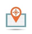 pin location design vector image