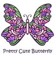 Pretty Cute Hand Drawn Butterfly vector image vector image