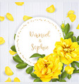 realistic yellow rose 3d roses vector image vector image