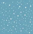 seamless falling snow vector image