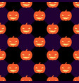 seamless halloween pattern with pumpkins on rhomb vector image