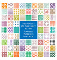set different retro seamless patterns in color vector image