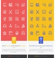 Set Icons Theme of Education and Learning vector image