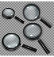 set magnifiers vector image