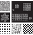 Set of abstract patterns with squares vector image