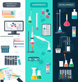 Set of chemical vertical banners Science process vector image vector image