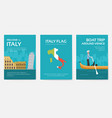 set of italy country ornament travel tour concept vector image