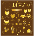 set wedding gold elements vector image vector image