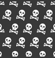 skull and cross bones halloween seamless pattern vector image