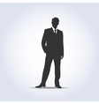 Standing businessman silhouette gray color vector image vector image