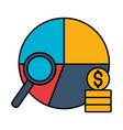 stock market chart money analysis vector image vector image