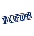 tax return stamp vector image vector image