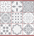 tiles design azulejo seamless pattern vector image