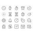 time clock thin line icon minimal vector image