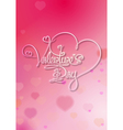 Valentines Card Valentines Day Pink vector image