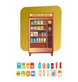 vending machine with food and drink vector image