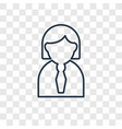 women concept linear icon isolated on transparent
