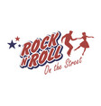young couple wearing 50s clothes dancing rock and vector image vector image