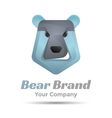Bear face icon Volume Logo Colorful 3d Design vector image