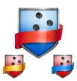 Set of Bright shield in the bowling ball inside vector image