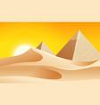 a hot desert landscape vector image
