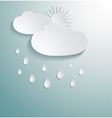 Abstract 3D paper cloud vector image vector image
