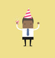african businessman in celebration party vector image