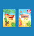 best discount summer sale set vector image vector image