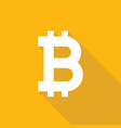 bitcoin icon sign flat style vector image
