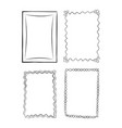 black and white outlined frames set vector image vector image