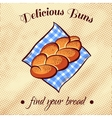 Bread On A Napkin 9 vector image vector image