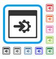 cog integration calendar page framed icon vector image vector image
