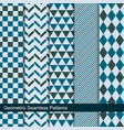 collection geometric seamless patterns vector image vector image