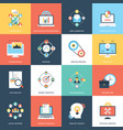 collection web and seo flat icons vector image vector image